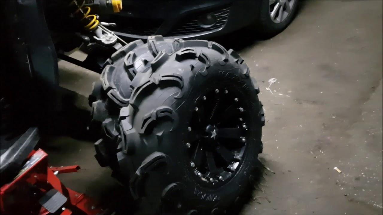Как поменять шины на квадроцикле?